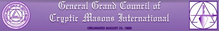 General Grand Council Cryptic Masons